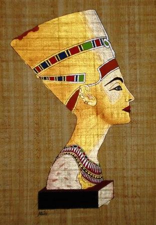 Nefertiti first appear...