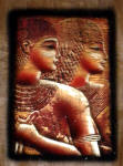 "Egyptian Papyrus Paintings:  Princess Meritamun, ""The White Queen"" in a Metallic Finish"
