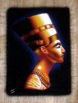 Egyptian Papyrus Paintings: Golden Queen Nefertiti