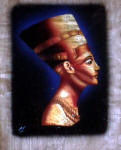 Egyptian Papyrus Paintings: Queen Nefertiti (Metallic Highlights)