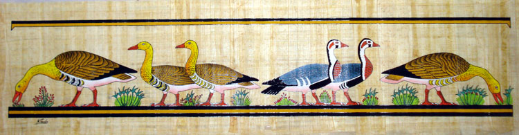Papyrus Painting - Nile Geese