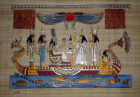Papyrus Painting: Nefertari Wedding Night Blessings