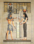 Egyptian Papyrus Painting:  Ramses' Journey to the Afterlife