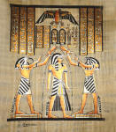 Egyptian Papyrus Painting: Coronation of Ramses