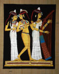 Egyptian Papyrus Painting -  The Musicians