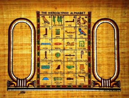 Egyptian papyrus art personalized hieroglyphic alphabet papyrus painting personalized hieroglyphic alphabet thecheapjerseys Images