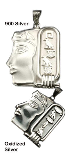 Sterling Silver Queen Cartouche