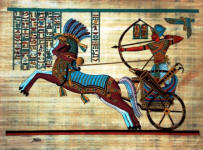 Papyrus Painting  of Ramses the Warrior and the Battle of Kadesh