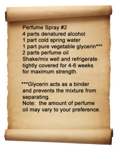 perfume spray recipe