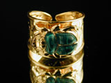 Scarab rings inspired by the jewelry of Ancient Egypt