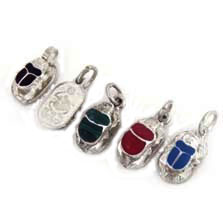 Egyptian jewelry scarab jewelry scarab pendant with inlaid stone silver scarab pendant with inlaid stones includes a free chain aloadofball Gallery