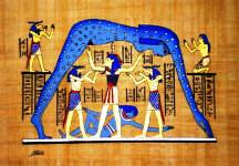 Papyrus Painting Celestial goddess Nut Valut of the heavens