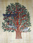 Egyptian Papyrus Painting -  Tree of Life