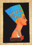 Papyrus Painting - Queen Nefertiti with Black Background